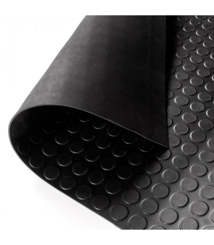 Pavimento caucho c rculos negro - Suelo de caucho precio ...